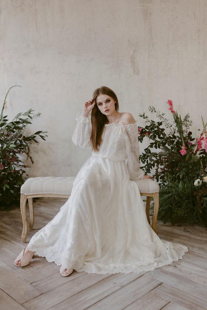 Abiti da sposa con manica lunga