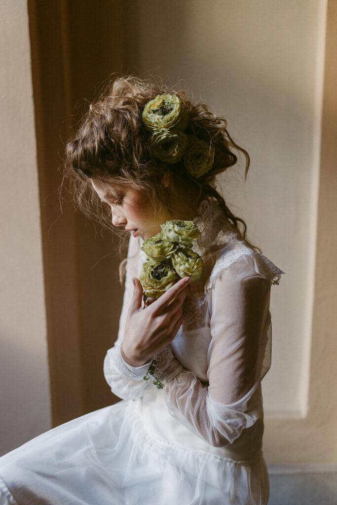 Abito da sposa con manica lunga